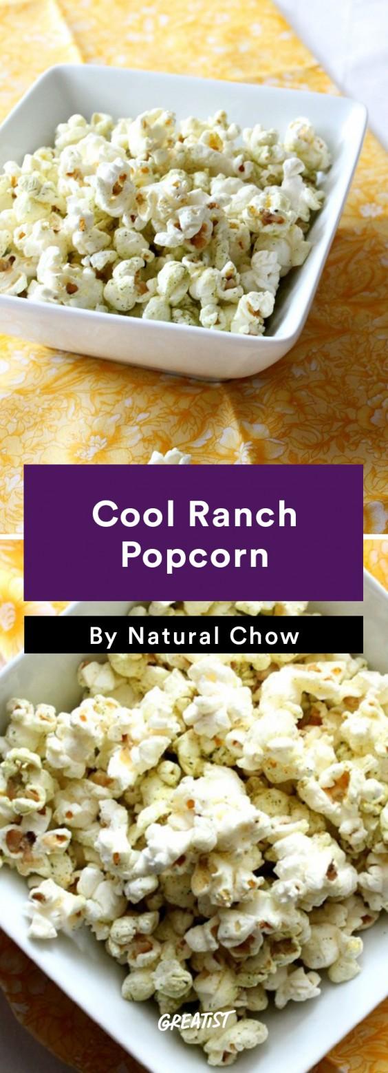 No-Cooler Snacks: Ranch Popcorn