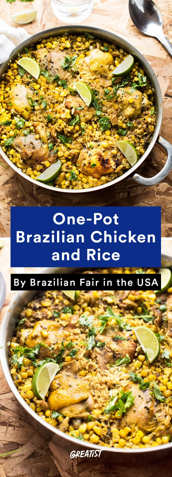 Brazilian food: Chicken and Rice