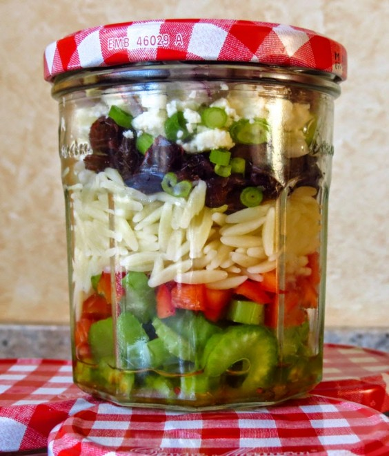 Orzo Salad in a Jar