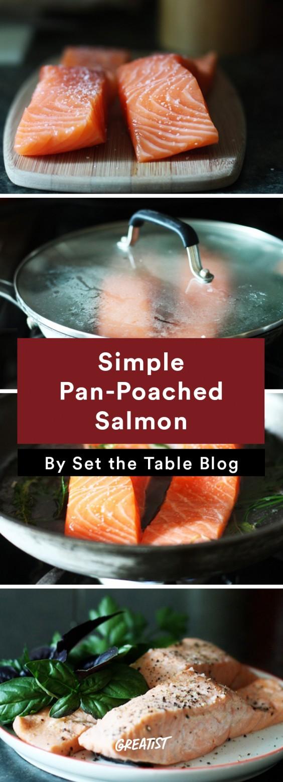 Salmon: Poached