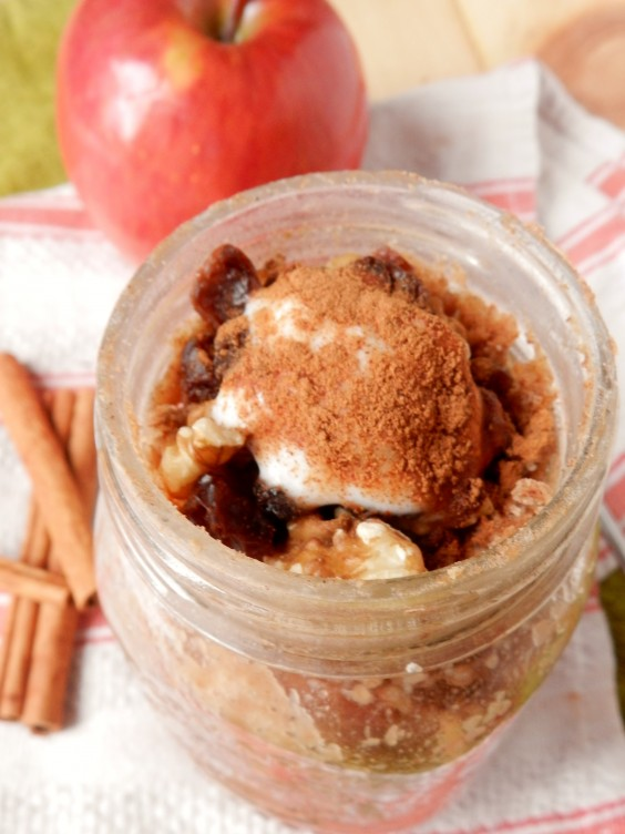 Apple Pie Pancake in a Jar