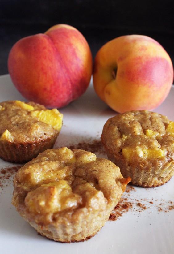 Overripe Fruit: Peach Cobbler Muffin