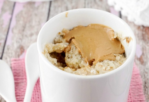 5. Peanut Butter and Oatmeal Mug Cake for Two