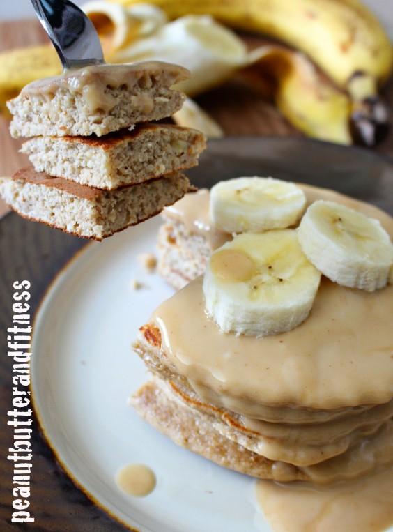 Protein Pancake: PB and Banana