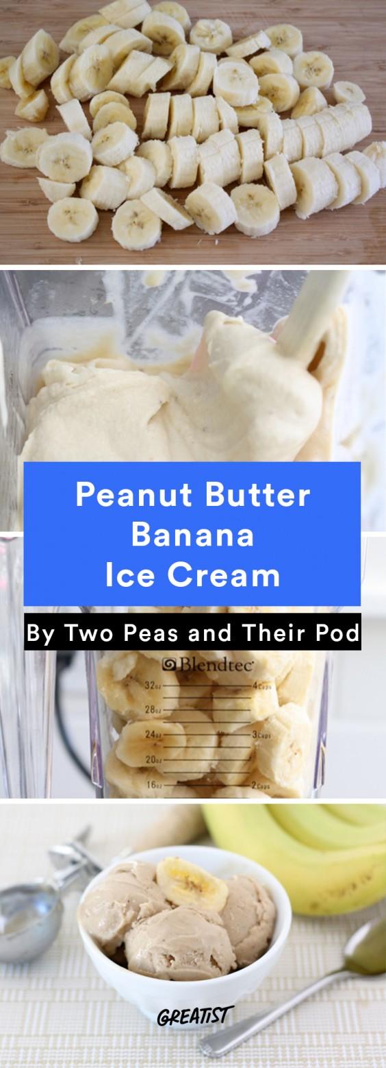 No-Churn Ice Cream: Peanut Butter Banana