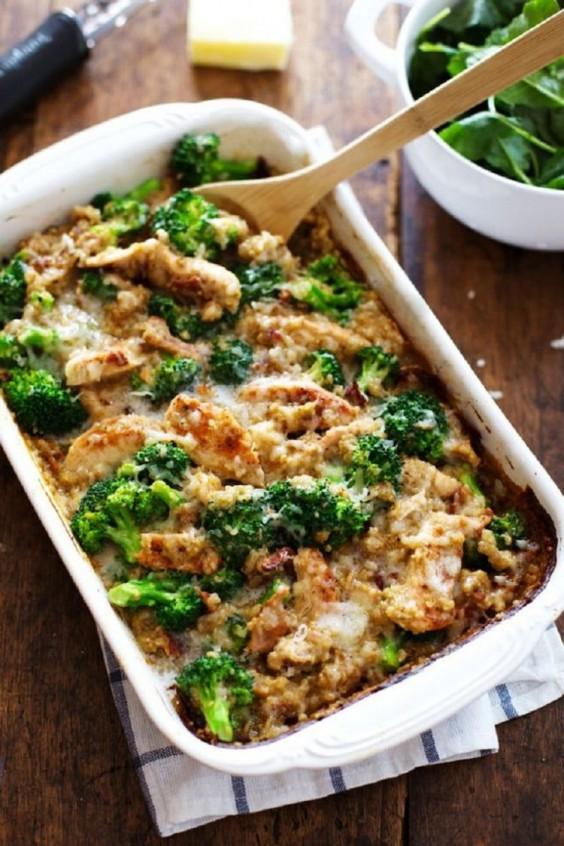 Healthy Casseroles: Creamy Chicken Quinoa and Broccoli