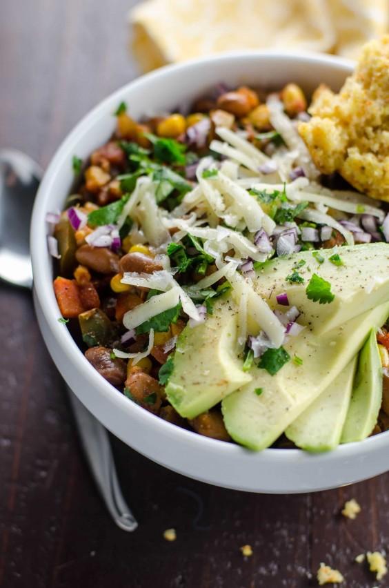 Veggie Chili: Pinto Bean and Corn