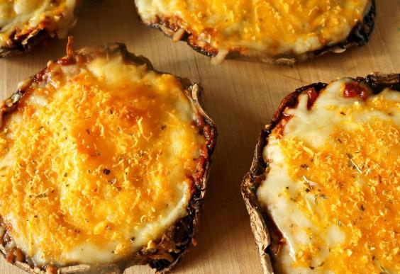 20. Cheesy Portabella Pizzas