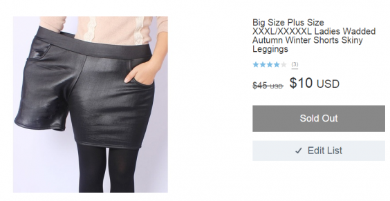 Wish Plus Size Shorts Ad