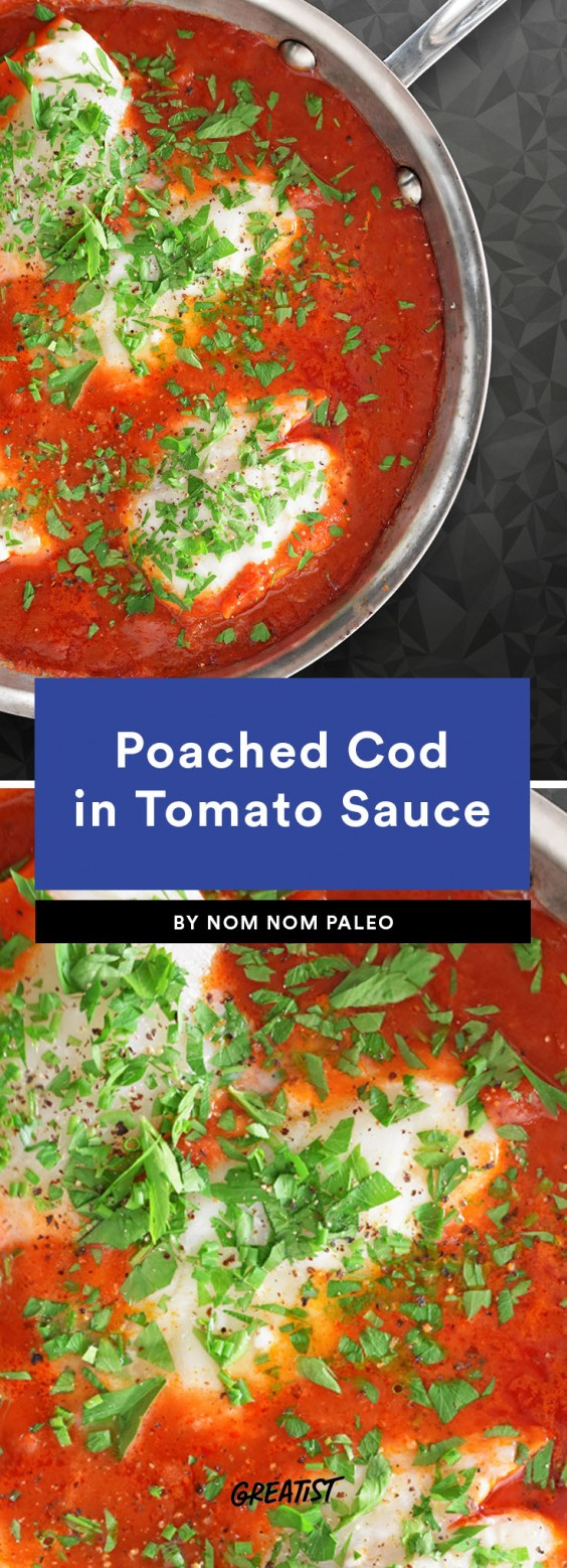 summer fish: Poached