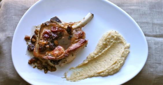 Cranberry Pecan-Stuffed Pork Chops