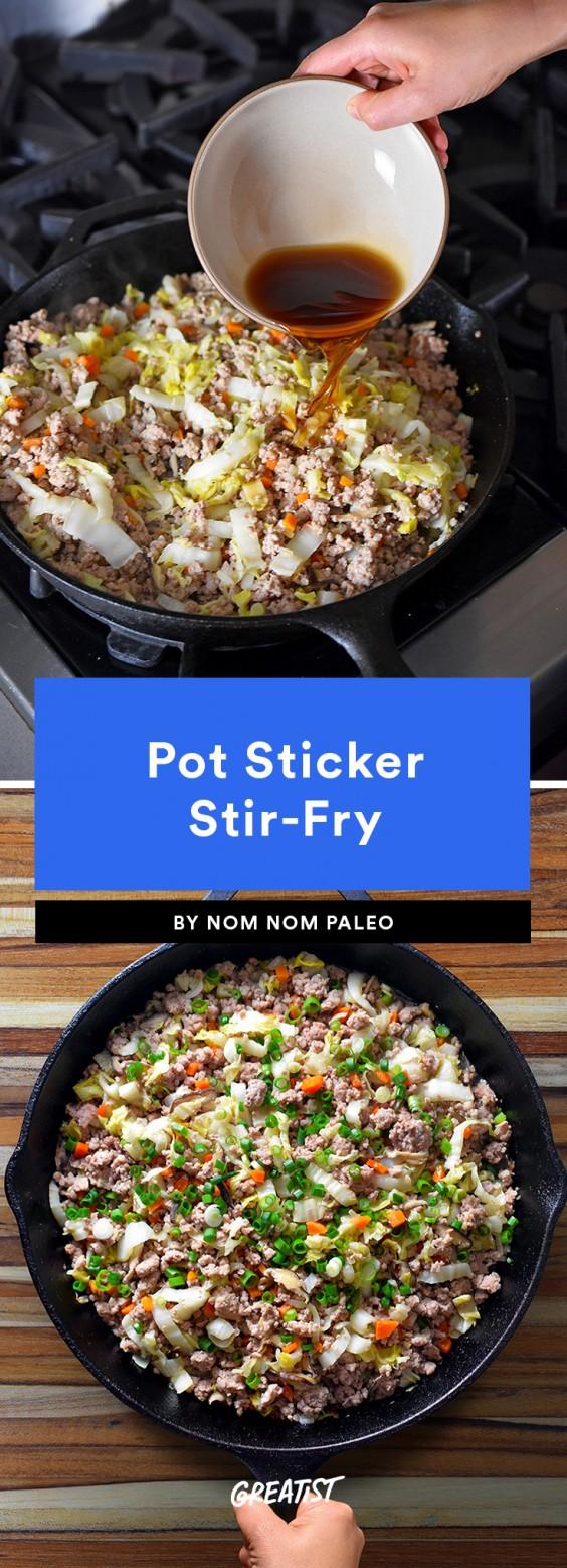 pot sticker stir fry