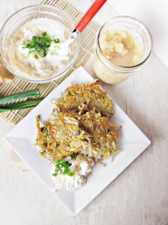 Latkes with Apple Ginger Cream
