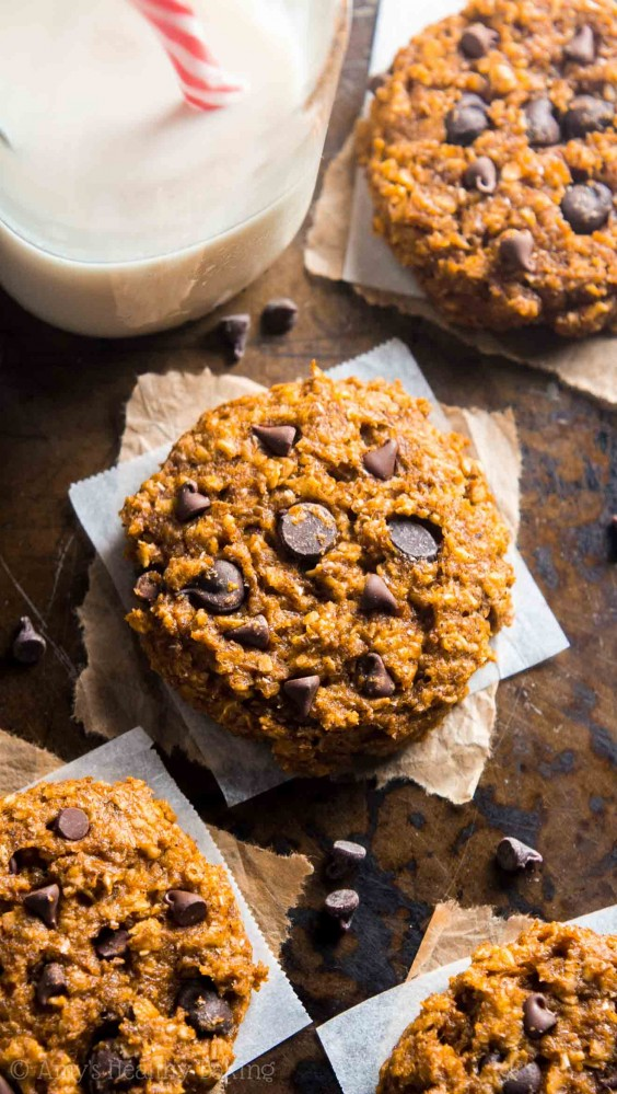 Veg Desserts: Pumpkin Chocolate Chip Oatmeal Cookies