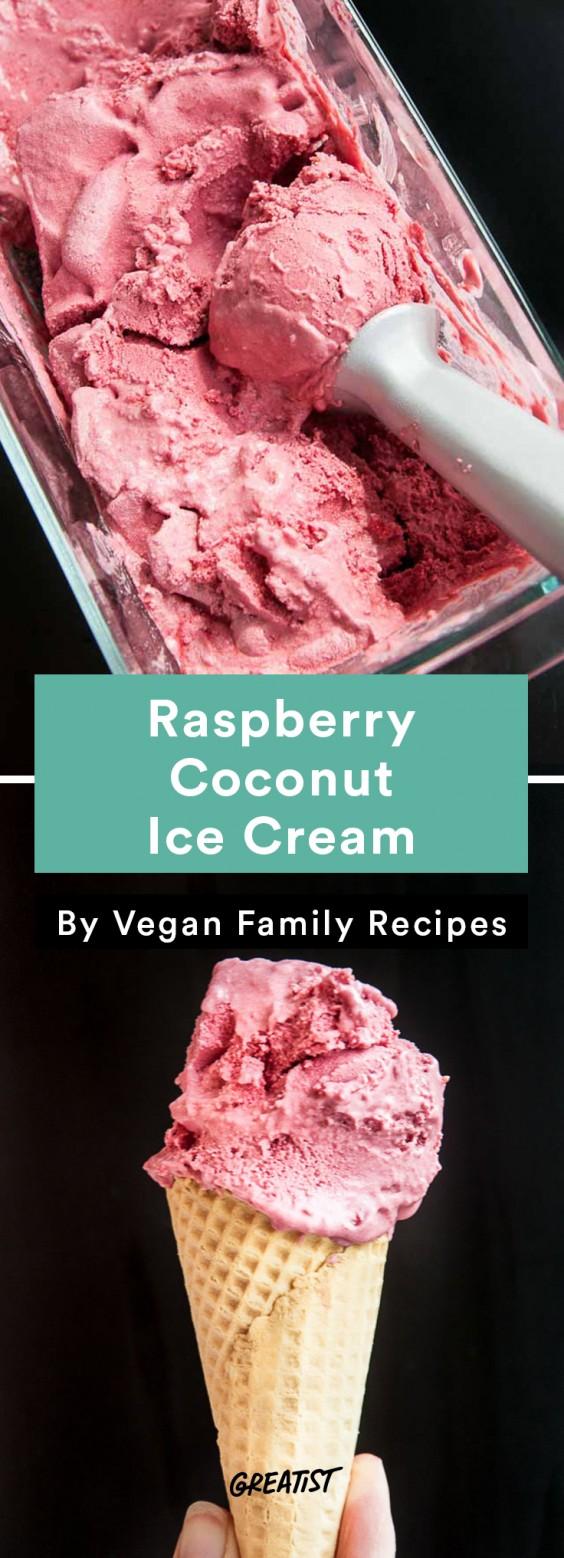 No-Churn Ice Cream: Raspberry Coconut