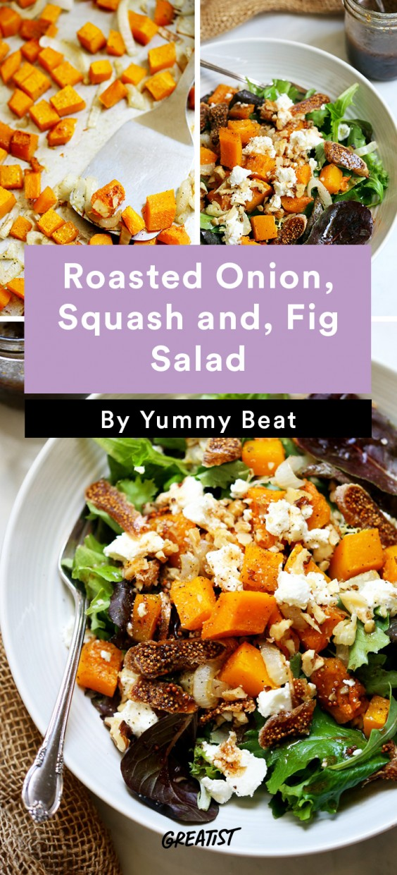 roasted onion squash and fig salad