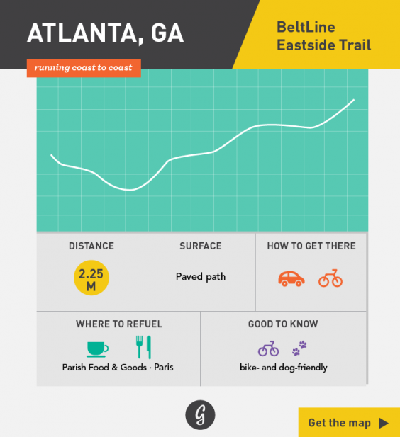 Greatist Running Routes Coast to Coast: Atlanta