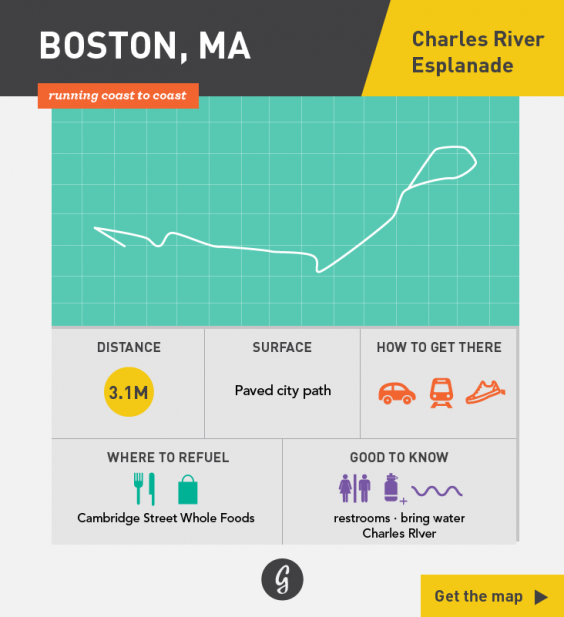 Greatist Running Routes Coast to Coast: Boston, MA