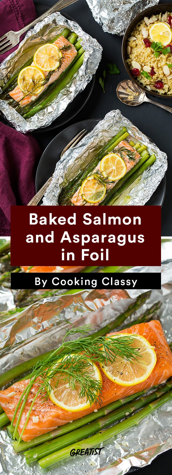 Foil Packet Recipes: Baked Salmon and Asparagus