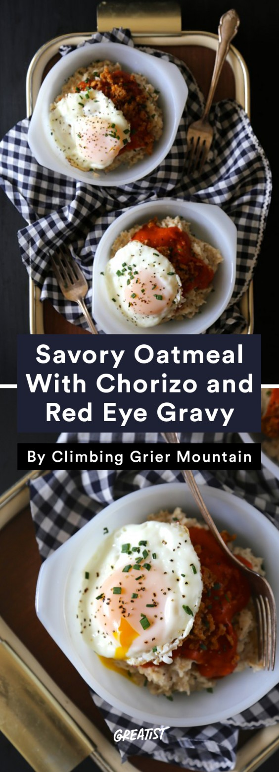 Leftover coffee: Savory Oatmeal