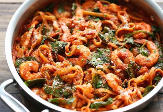 Shrimp Parmesan Pasta