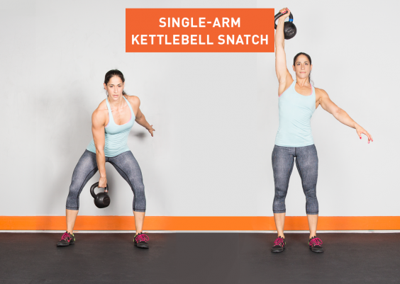 Greatist Single-Arm Kettlebell Snatch