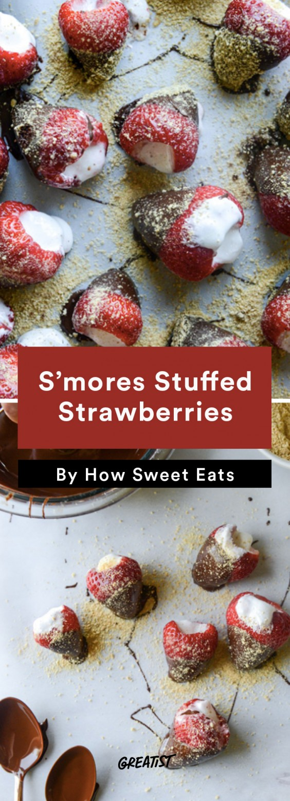 S'mores: Stuffed Strawberries