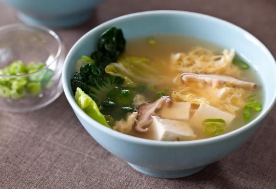13. Tofu and Mushroom Miso Soup