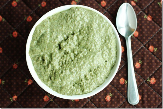 Spooky Green Chia Pudding