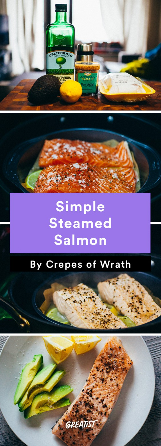 Salmon: Steamed