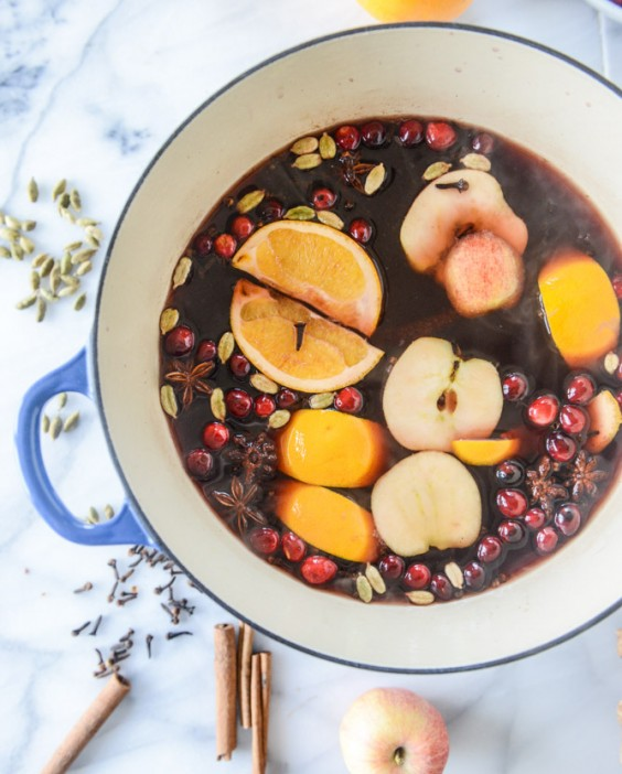 mulled wine: stovetop