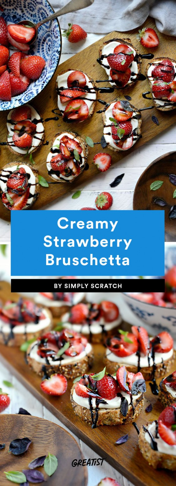 bruschetta: strawberry