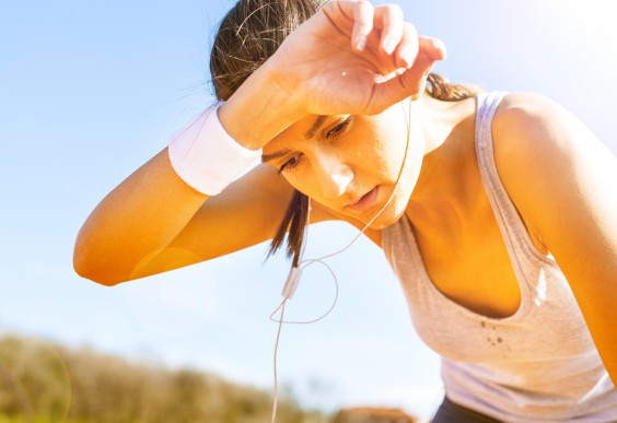 how to avoid sweating a lot