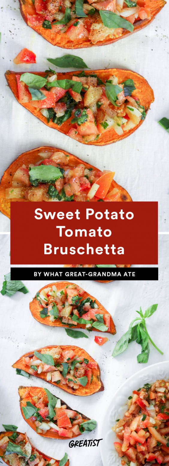 bruschetta: sweet potato