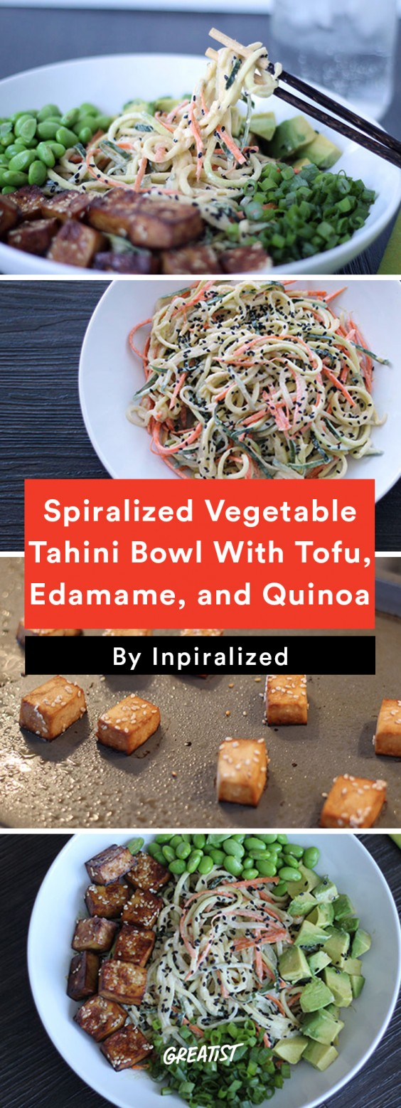 Inspiralized Roundup: Spiralized Vegetable Tahini Bow