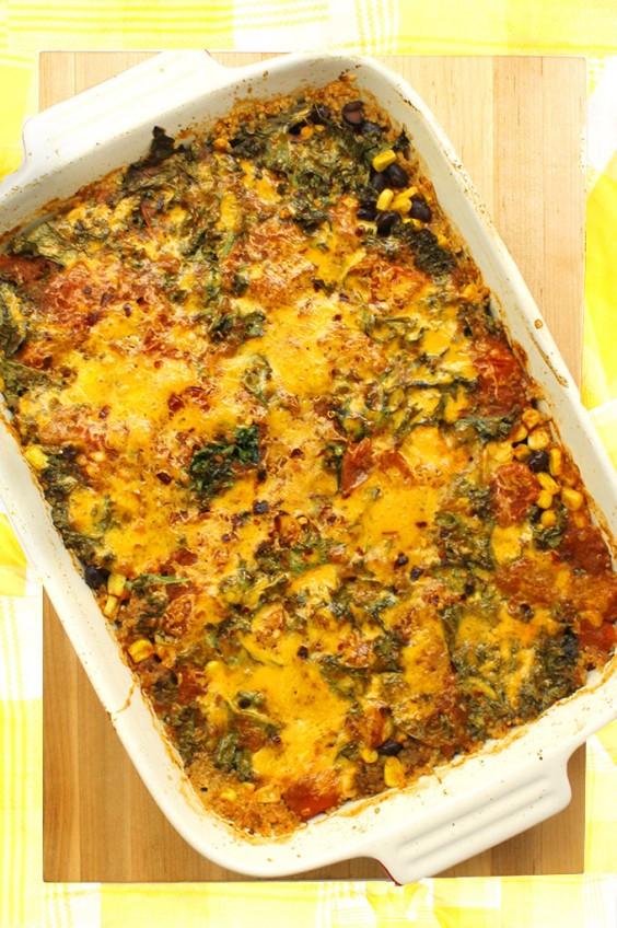 Healthy Casseroles: Quinoa Kale Taco