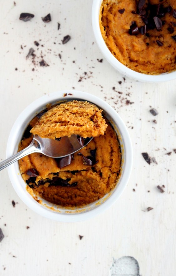 Mug Meals: Pumpkin Chocolate Chip Cake