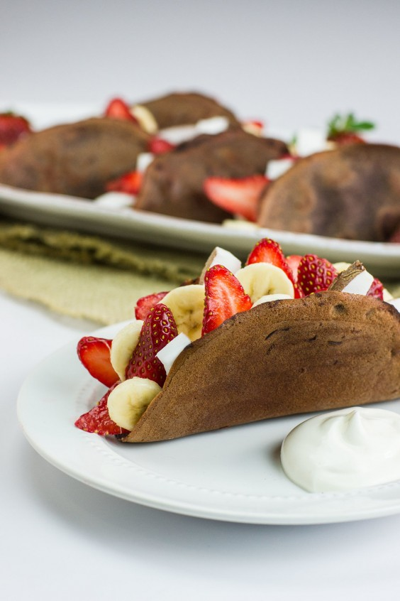 Healthy Tacos: Fruit Filled Chocolate