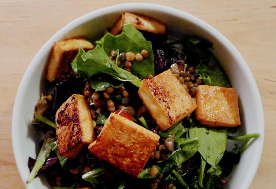 18. Tofu Lentil Salad