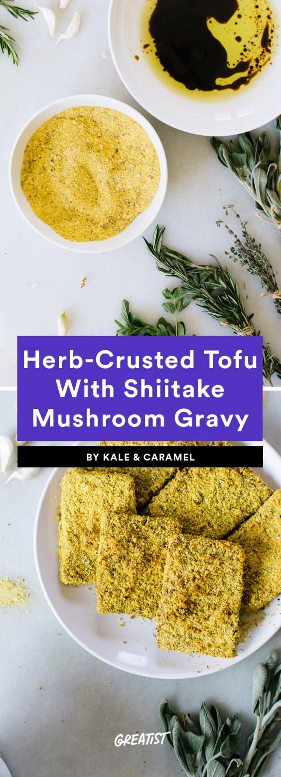 herb crusted tofu banner