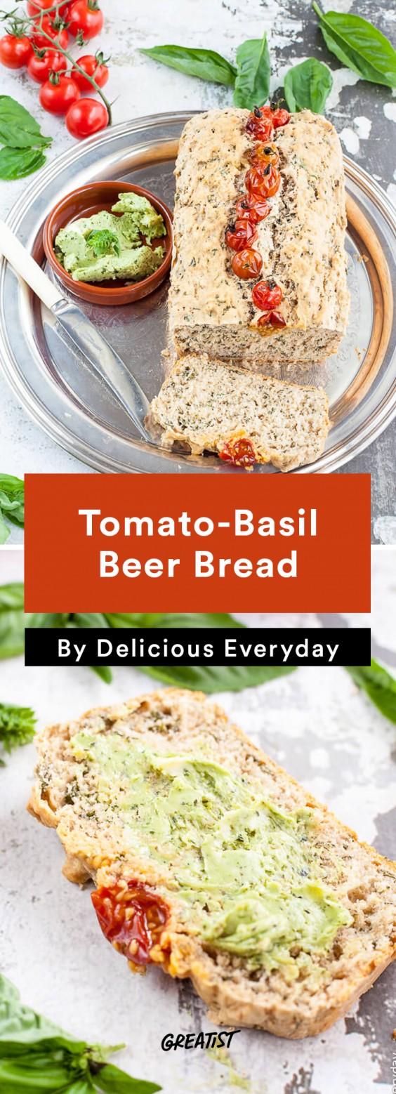 oktoberfest: Tomato-Basil Beer Bread