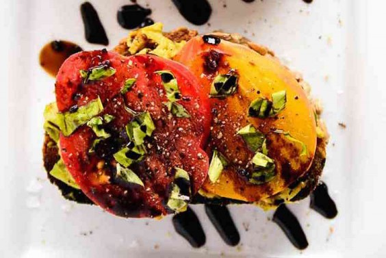 Avocado and Heirloom Tomato Toast