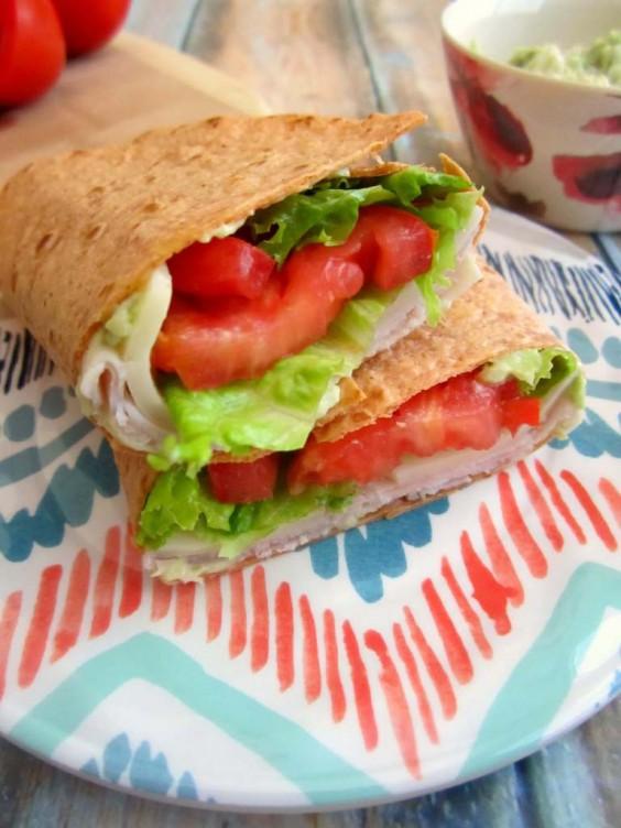 20. Turkey Provolone Wrap with Avocado Mayo