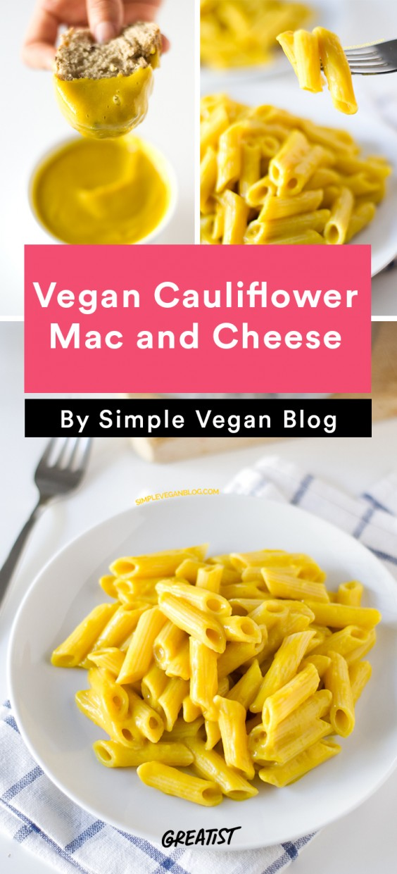 no dairy mac: Vegan Cauliflower Mac and Cheese