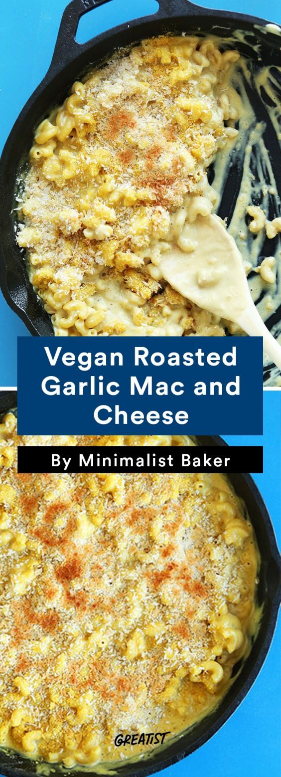 no dairy mac: Vegan Roasted Garlic Mac and Cheese