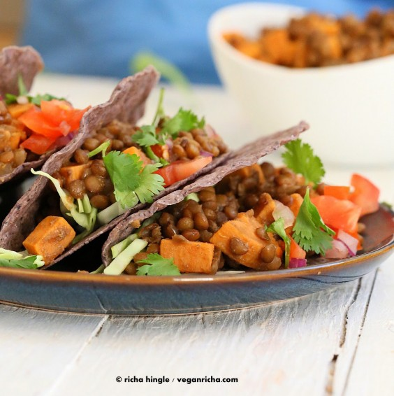 Healthy Tacos: Lentil and Sweet Potato