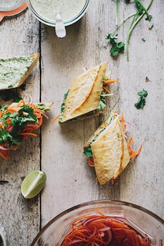 Veggie sandwich:  Vegetable Bahn Mi
