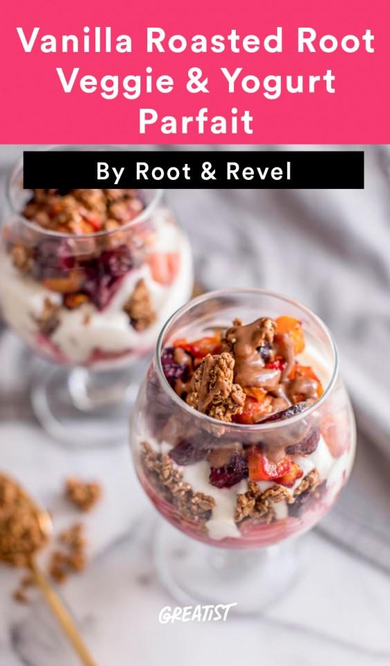 vanilla root veggie parfait