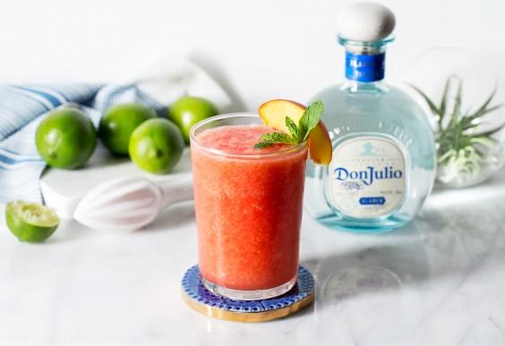 Watermelon Peach Summer Smoothie