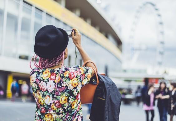 Woman Taking Photo - London